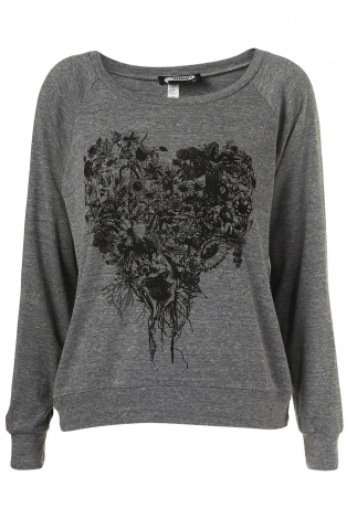 Top, tee-shirt TOPSHOP Gris, anthracite