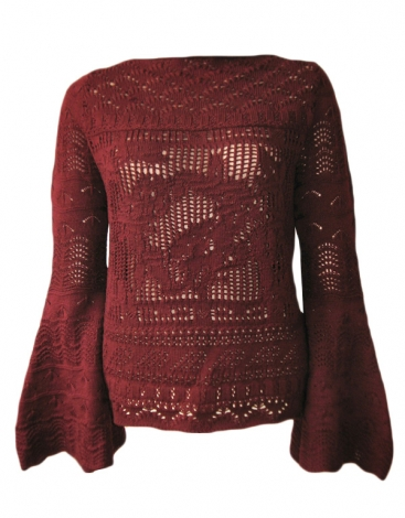 Pullover JEAN PAUL GAULTIER MAILLE Rot, bordeauxrot