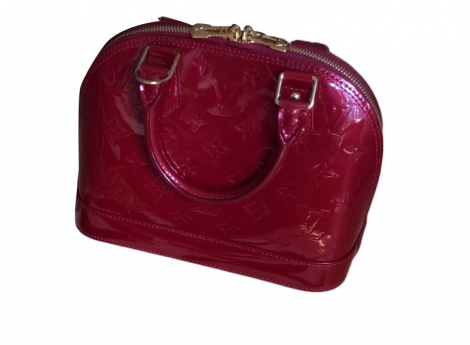 Borsetta in pelle LOUIS VUITTON Alma BB Rosso, bordeaux