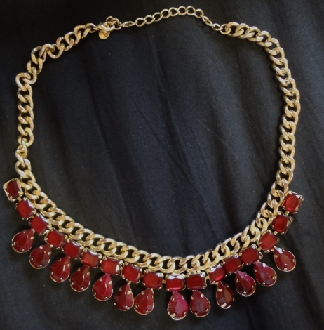 Collier ACCESSORIZE Rouge et or