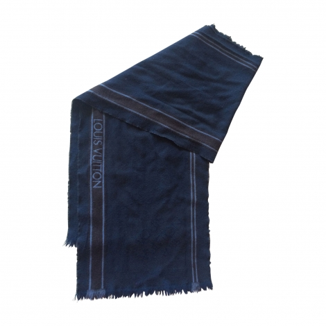 Scarf LOUIS VUITTON Blue, navy, turquoise