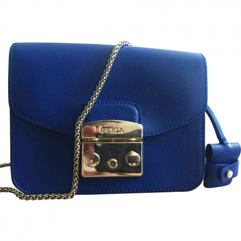 Leather Shoulder Bag FURLA Blue, navy, turquoise