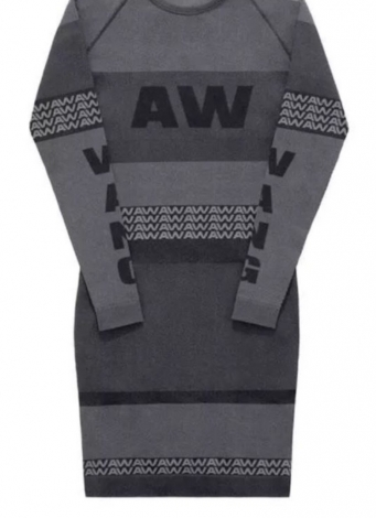 Robe courte ALEXANDER WANG X H&M Gris, anthracite