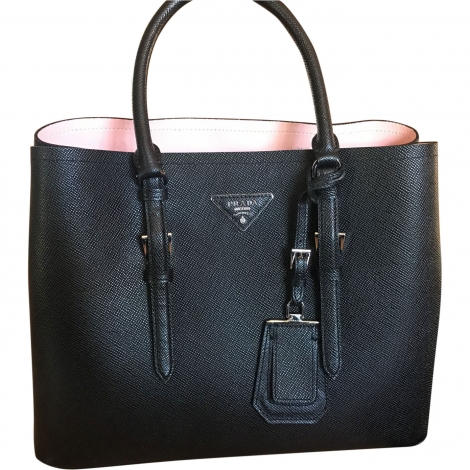Leather Handbag PRADA Black