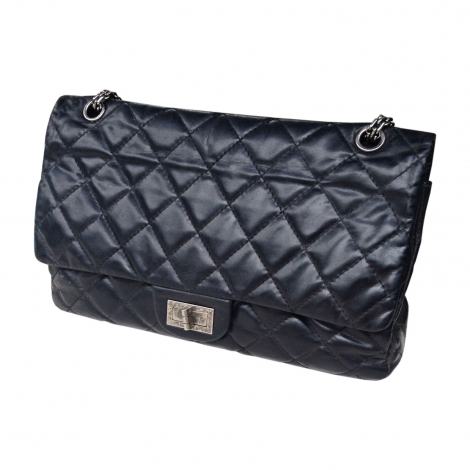 Leather Shoulder Bag CHANEL 2.55 Black