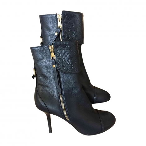 High Heel Ankle Boots LOUIS VUITTON Blue, navy, turquoise