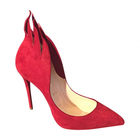 Pumps, Heels CHRISTIAN LOUBOUTIN Red, burgundy
