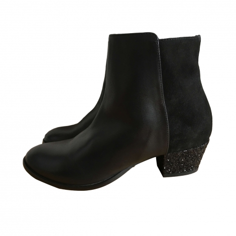 Bottines & low boots à talons MAJE Noir