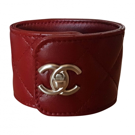Bracelet CHANEL Red, burgundy