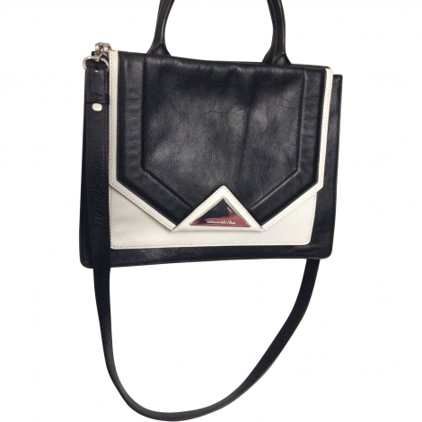 Leather Handbag KARL LAGERFELD Black