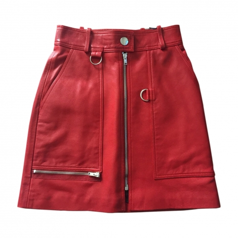 Mini Skirt ISABEL MARANT Red, burgundy